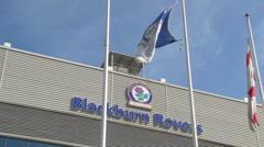 Blackburn Rovers Ewood Park Exterior Stock Footage