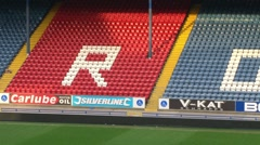 Blackburn Rovers Name in Seats Stock Footage