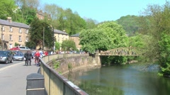 Matlock Bath River Derwent Stock Footage