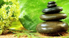 Balanced Stones & Relaxation Oil Stock Footage