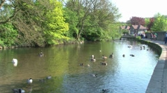 Bakewell River Wye Stock Footage