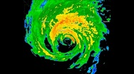Stock Video Footage of Hurricane Katrina (2005) Landfall Time lapse