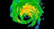 Stock Video Footage of Hurricane Katrina (2005) Landfall Time lapse