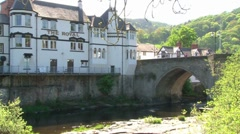 Llangollen River Dee Stock Footage
