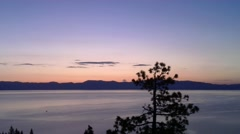 Tahoe Sunrise - stock footage