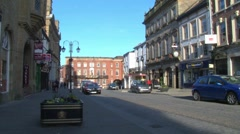 Wrexham Town Centre Stock Footage