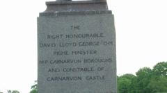 David Lloyd George Statue Stock Footage