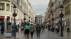 Malaga Larios Street Stock Footage