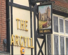 Pub Name and Sign Stock Footage
