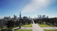 Stock Video Footage of Melbourne Skyline
