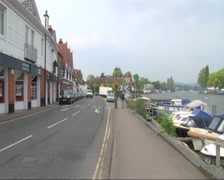 Henley-on-Thames Riverside Stock Footage