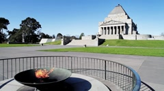 Shrine of Remembrance - Melbourne Stock Footage