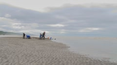 Clamlapse Incoming Tide Stock Footage