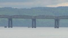 Firth of Tay Rail Bridge Stock Footage