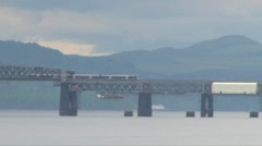 Tay Bridge Train Stock Footage