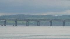 Tay Rail Bridge Stock Footage