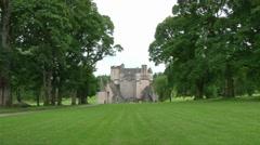 Castle Fraser Gardens Stock Footage