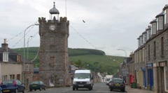 Dufftown Conval Street Stock Footage
