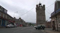 Dufftown Traffic Stock Footage