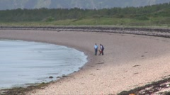 Scottish Highlands Beach Stock Footage