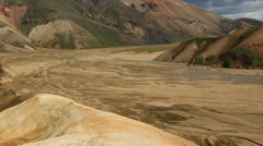 Sandy valley pan Stock Footage