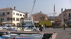 Italy - Lake Garda - Bardolino Stock Footage