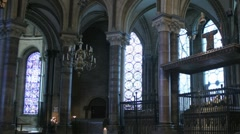 Canterbury Cathederal Interior Time lapse Stock Footage