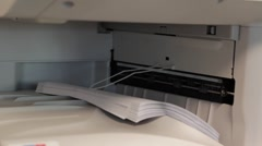 Office Copier and stack of paper - stock footage