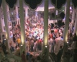High view of nightclub and dancing crowd Footage