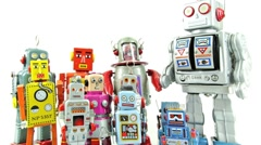Robot family1 Stock Footage