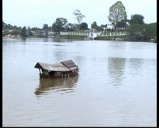 Riverboat - Sampan Crossing - Kuching Stock Footage