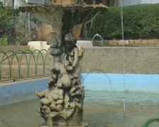 Close up of fountain - stock footage