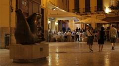 Malaga Street Corner Stock Footage