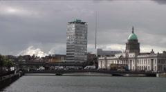 Dublin Cityscape 3 Stock Footage