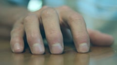 RESTLESS, NERVOUS, FINGERS CLOSE-UP Stock Footage