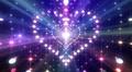 LED Light Heart 3 H1LB1 HD Footage