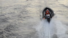 24 hour motor boat race, St. Petersburg, Russia - stock footage
