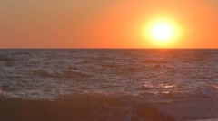 Incredible sunset over the sea - stock footage