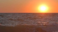 Incredible sunset over the sea Stock Footage