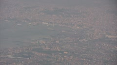Italy - Campania - View from Vesuvius to Naples Stock Footage