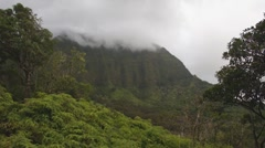 Koolau misty mountains time lapse 2 Stock Footage