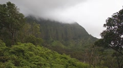 Koolau misty mountains 2 Stock Footage