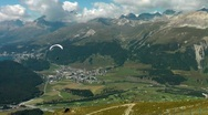Stock Video Footage of Paraglider at Muottas Muragl, Switzerland