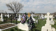 Graveyard Place, Orthodox Cemetery, Mourning, Cross Stock Footage