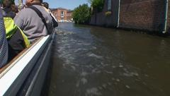 Boat tour in Bruges, point of view Stock Footage
