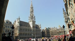 Brussels Grand place townhall timelapse Stock Footage