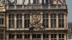 Brussels Guildhouse grand place close Stock Footage