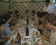 Stock Video Footage of People dining together at table