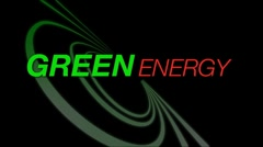 Animated screen saying 'Green Energy' for use an an intro Stock Footage