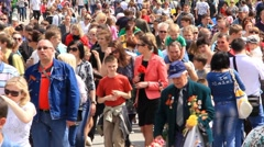 Crowd of people. Timelapse 6x 1080p - stock footage